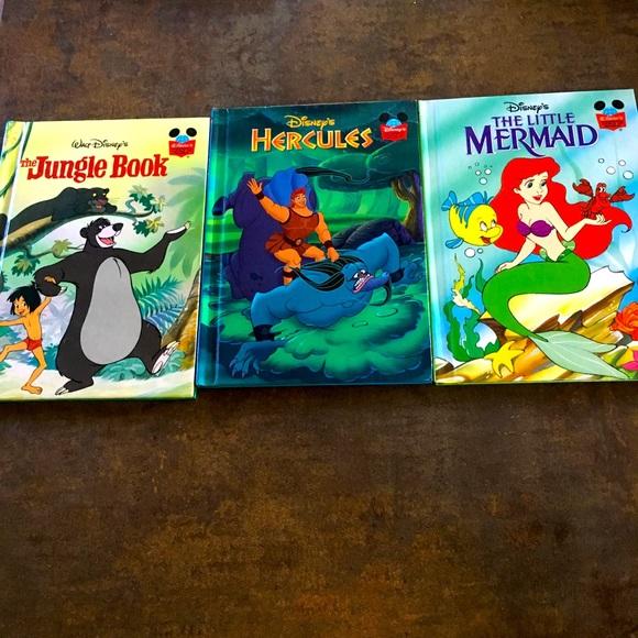 Bundle of three vintage Walt Disney books